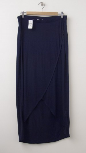 NEW Gap Maternity Tulip Hi-Lo Skirt in Navy Uniform