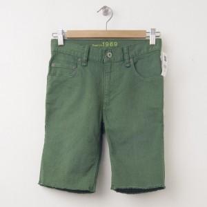 NEW GapKids Boy's 1969 Denim Cut-Off Shorts in Jungle Green
