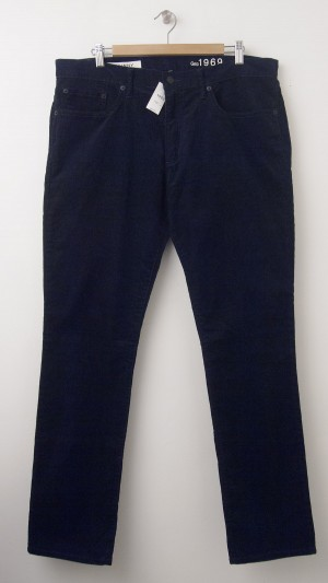 NEW Gap 1969 Stretch Cord Skinny Fit Corduroy Pants in New Classic Navy