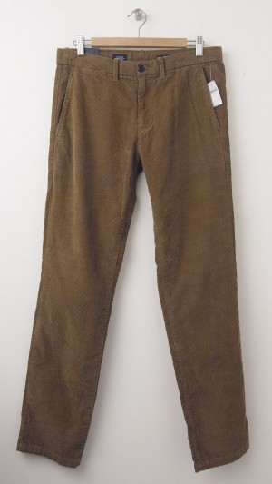 NEW Gap Tailored Cord Slim Fit Wide Wale Corduroy Pants in Palamino Brown