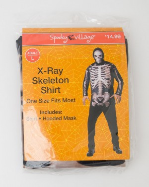 Spooky Village Halloween X-Ray Skeleton Shirt Adult L