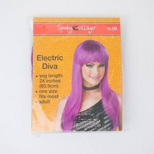 Spooky Village Electric Diva Adult Wig in Purple