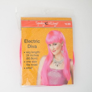 Spooky Village Electric Diva Adult Wig in Pink