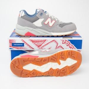 New Balance Women's 580 Neon Seaside Hideaway Running Shoes WRT580RE in Grey