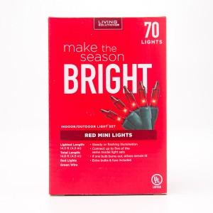 Living Solutions Red Mini Lights 70 Lights