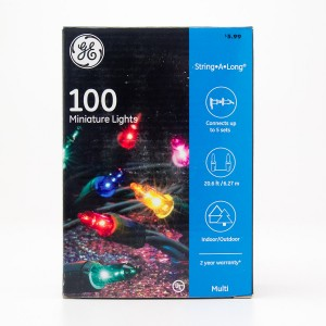 GE 100 Miniature Lights String-A-Long Multi-Color with Green Wire