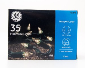GE 35 Miniature Lights String-A-Long Clear with Green Wire