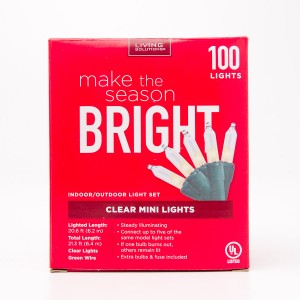Living Solutions Clear Mini Lights 100 Lights