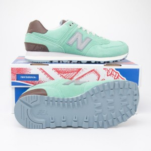 New Balance Women's Beach Cruiser 574 Classics Running Shoes WL574BEC in Aqua