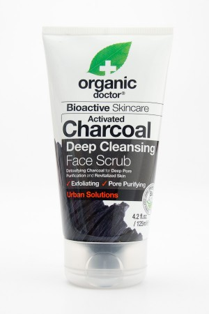 Organic Doctor Bioactive Skincare Activated Charcoal Deep Cleansing Face Scrub 4.2 fl oz