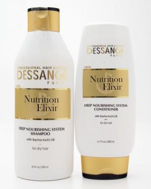 Dessange Nutrition Elixir Deep Nourishing System Shampoo Shampoo and Conditioner
