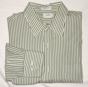J Crew Striped Dress Shirt Men's Medium - M - 15-15.5