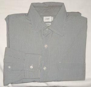J Crew Micro-Check Dress Shirt Men's Medium - M - 15.5-16