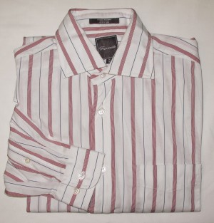 Faconnable Striped Dress Shirt Men's 15 (38)