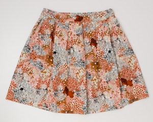Max Studio Floral Skirt Women's L - Large