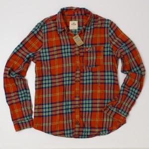 Hollister Plaid Flannel Shirt Women's L - Large