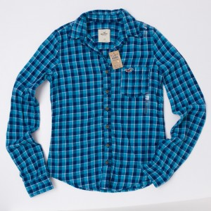 Hollister Plaid Flannel Shirt Women's XS - Extra Small