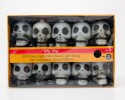 Spooky Village LED Illuminated Mini-Skull Light String with Halloween Sound Effects
