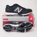 New Balance 4040 Low Cut Baseball Cleats MB4040BB in Black with White