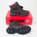 "Wolverine Piper 6"" Composite Toe Waterproof Work Boot 10180 in Brown"