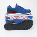 New Balance Men's Gradient 574 Classics Running Shoes ML574RAC in Blue