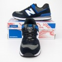 New Balance Men's Core Plus 574 Classics Running Shoes ML574AAB in Black