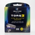 CVS Blade for Men Torq 3 Fits Gillette Mach3 Razor Blades 10 Cartridges