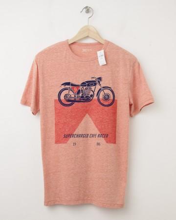NEW GapKids Motorcycle Graphic Tee T-Shirt in Grenadine Orange