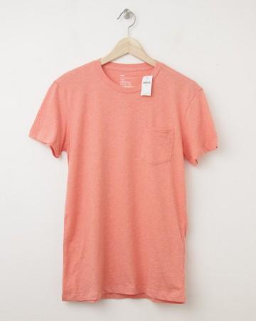 NEW Gap The Essential Pocket Tee T-Shirt in Orange Heather