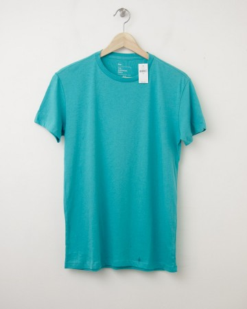 NEW Gap The Essential Crew Tee T-Shirt in Green Cascade