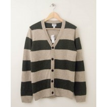 NEW Old Navy Rugby Striped Cardigan Sweater in Oatmeal Heather Small