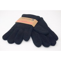 NEW Dockers Genuine Leather Fleece Lined PigSplit/Knit Combo Gloves in Black