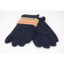 Genuine Leather Sherpa Lined PigSplit Gloves in Black