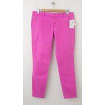 NEW Gap Garment Dyed Skinny Mini Skimmer Khaki Pants in Neon Magenta