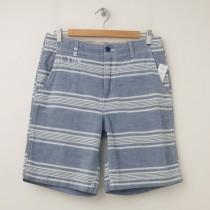 NEW GapKids Boy's Flat Front Shorts in Blue Stripe