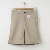 GapKids Boy's GapShield Uniform New Flat Front Short in Cargo Khaki