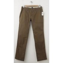 NEW Gap Slim Fit Herringbone Fatigue Pants in Modern Bronze
