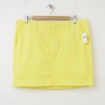 NEW Gap Twill Mini Skirt in Ariel Yellow