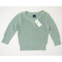 NEW babyGap Waffle-Stitch Pullover Sweater in Sage Tint