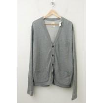 NEW Gap Heavy Jersey Cardigan Sweater in Grey