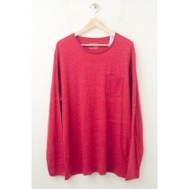 NEW Old Navy Core Long Sleeve Crew Pocket Tee T-Shirt in Red