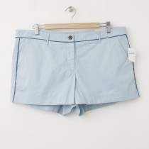 NEW Gap Sunkissed Piped Khaki Short Shorts in Rain Blue