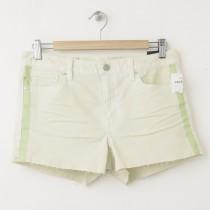 NEW Gap 1969 Side-Stripe Maddie Slim Cut-Off Denim Shorts in Coconut