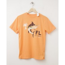NEW GapKids Key West FL Graphic Tee T-Shirt in Icy Orange
