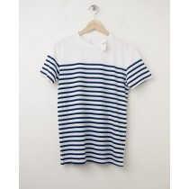 NEW Gap The Essential Crew Tee T-Shirt in Blue Stripe