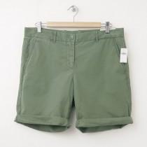 NEW Gap Boyfriend Roll-Up Bermuda Shorts in Desert Cactus