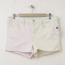 NEW Gap 1969 Colorblock Maddie Slim Denim Shorts in Pink Dogwood