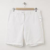 NEW Gap Boyfriend Roll-Up Linen Bermuda Shorts in Optic White