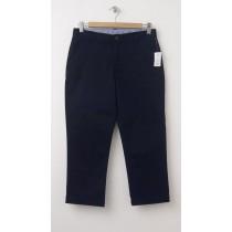 NEW GapKids Girl's Uniform Stretch Capri Pants in Deep True Navy