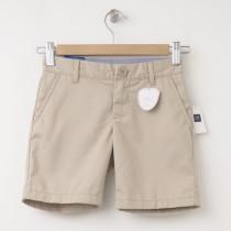 "NEW GapKids Girl's GapShield Uniform Flat Front Shorts (6"") in Wicker Beige"